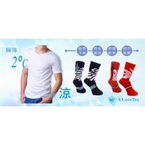 夏雪白色短袖+知足運動襪